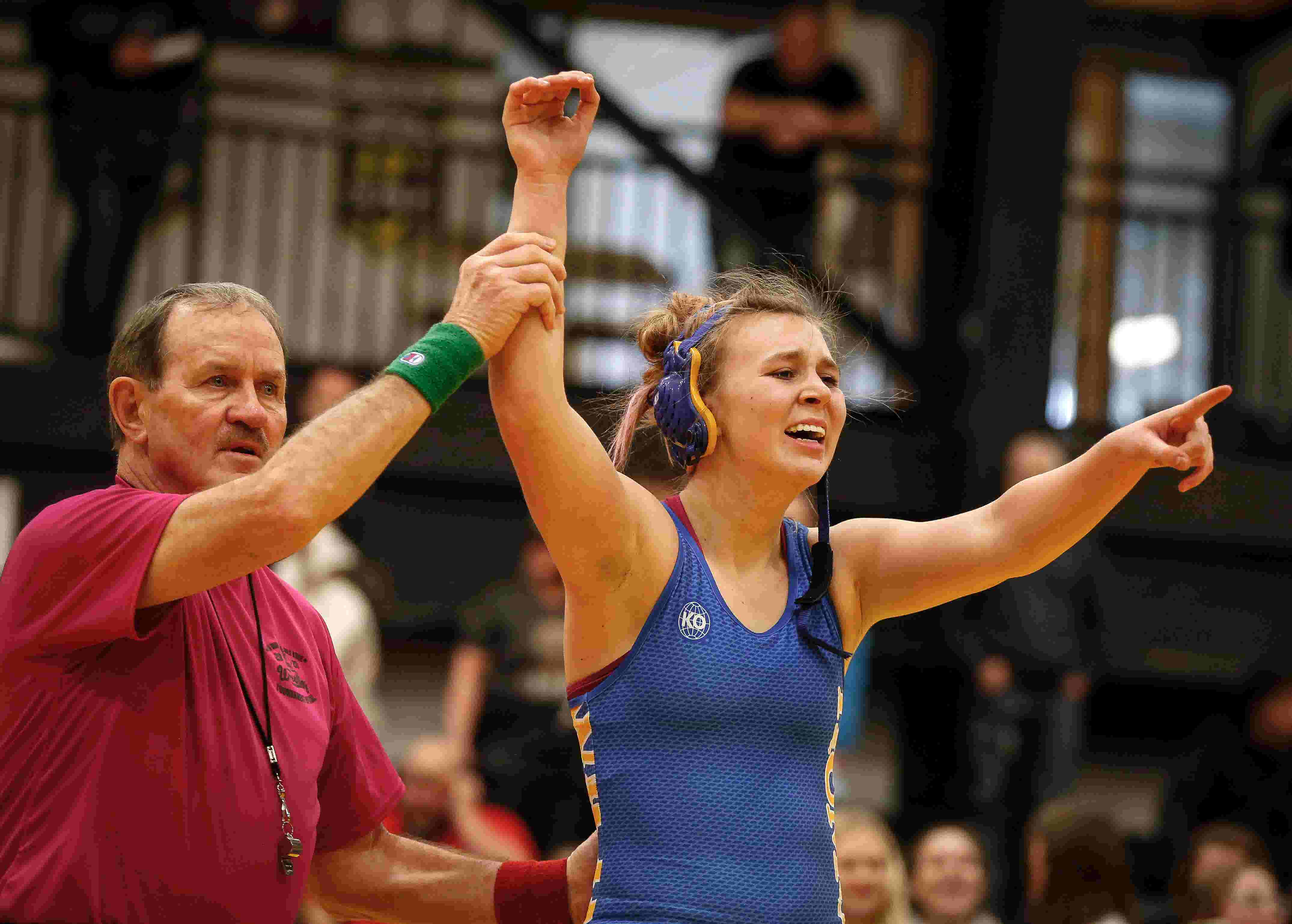 Humboldt's Kendal Clark, the 170-pound girls' state wrestling champ
