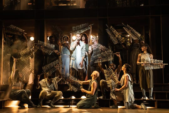 """Aaron LaVigne and the company of the current North American Tour of """"Jesus Christ Superstar."""""""