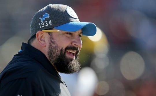 North head coach Matt Patricia of the Detroit Lions before the 2020 Senior Bowl at Ladd-Peebles Stadium, Jan. 25, 2020 in Mobile, Ala.