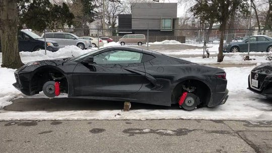 A 2020 Chevrolet Corvette Stingray had its wheels stolen, and it is not even in production yet.