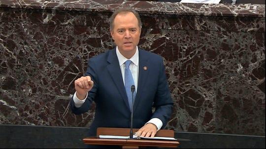 House impeachment manager Rep. Adam Schiff, D-Calif.