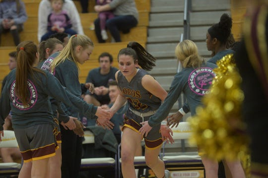 Rocky Mountain basketball player Lily Smith is introduced before a game against Fort Collins on Friday, Jan. 24, 2020. Fort Collins won 50-46.