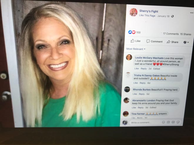Mississippi postal worker Sherry Ingold died on Friday, Jan. 24, 2020 after being shot. This photo is from Facebook group Sherry's Fight, where people rallied to support the postal worker.