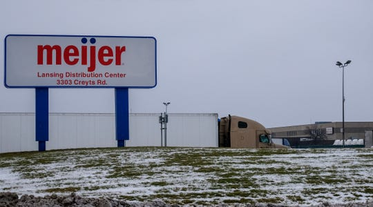 The Meijer Lansing Distribution Center on Creyts Rd. Saturday, Jan. 25, 2020.
