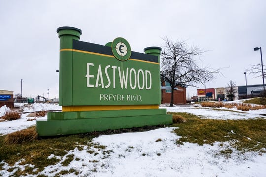 Eastwood Town Centre signage Saturday, Jan. 25, 2020.