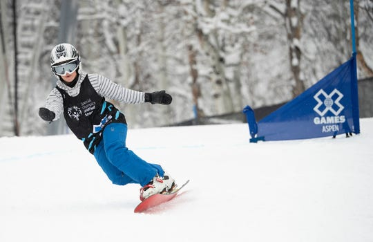 Daina Shilts of Neillsville competes in the unified snowboarding event Jan. 23 at the 2020 X Games in Aspen, Colorado.
