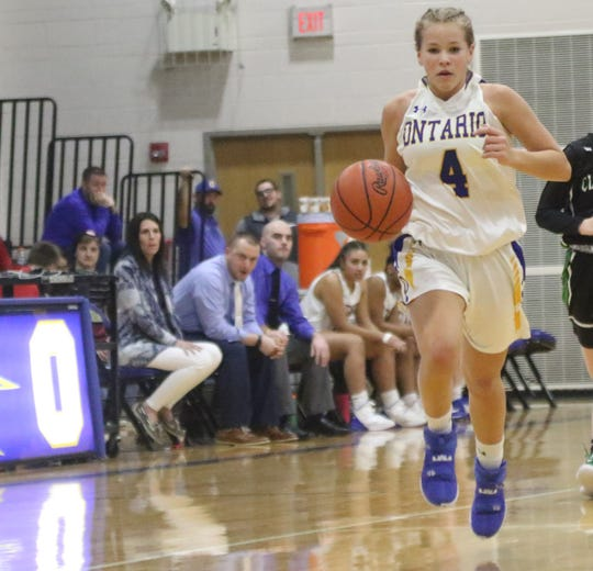 Ontario's Macy Mangan has the Lady Warriors at No. 6 in the Richland County Girls Basketball Power Poll.
