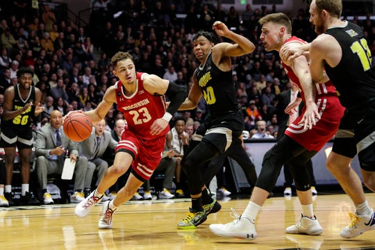 Kobe King was Wisconsin's leading scorer in Big Ten play before leaving.