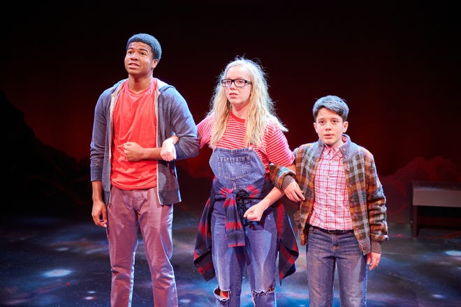 """Nahjee Robinson, Lily Miller and Abram Nelson perform in a past First Stage production of """"A Wrinkle in Time."""" Due to the coronavirus pandemic, First Stage says its 2020-'21 season will be entirely virtual."""