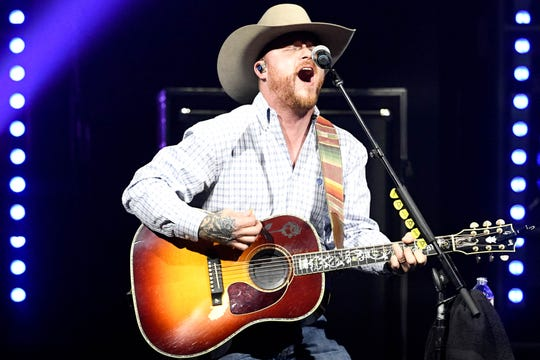 Cody Johnson performs before Miranda Lambert at Bridgestone Arena Friday, Jan. 24, 2020, in Nashville, Tenn.