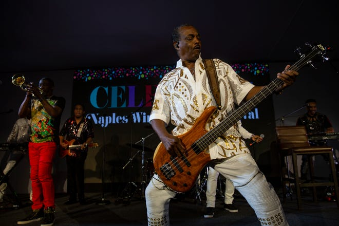 """Kool & the Gang, seen here with bassist Robert """"Kool"""" Bell at Naples Winter Wine Festival  on Jan. 25, 2020, headlines Clearwater Jazz Holiday on Oct. 14."""