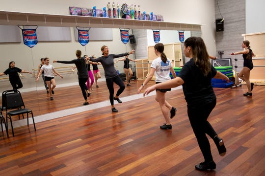 Cheryl Fuccillo, center, leads a tap class at Naples Performing Arts Center on Friday, January 24, 2020.