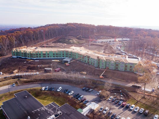 Aerial view of Vista project under construction at the Christian Health Care Center in Wyckoff.  The 161-unit project is scheduled to open the end of 2020.