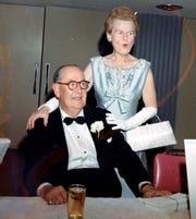Frank and Melba Bennett in 1967 at the Bob Hope Classic dinner dance.