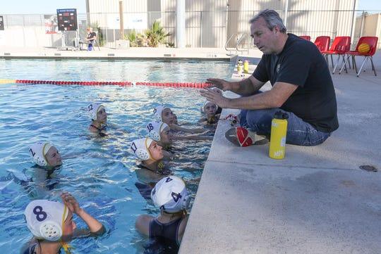 La Quinta head coach Cal Lowell coaches his team against Palm Desert, January 24, 2020.