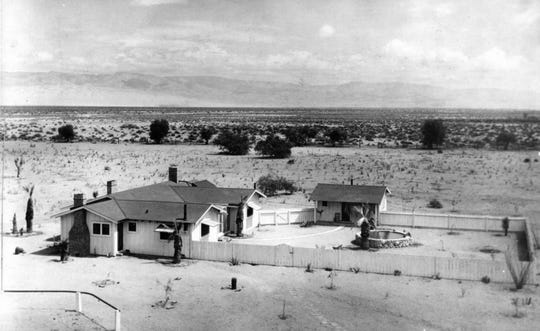 Deep Well Ranch in 1925 consisted of a few buildings and the eponymous well.