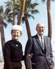 Frank and Melba Bennett in the 1950s, always smiling.