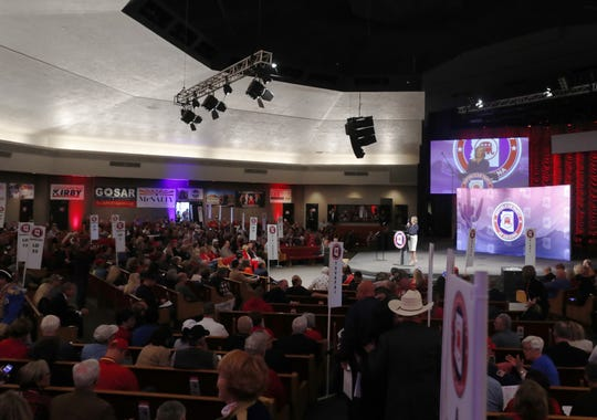 State parties seek unity ahead of elections as dissenters vent at Ducey, Sinema