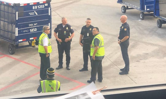 The Phoenix Police Department cleared part of Phoenix Sky Harbor International Airport on Jan. 24, 2020.