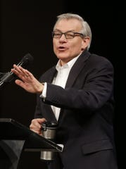 Rep. David Schweikert speaks during an Arizona Republican Party meeting at Church for the Nations in Phoenix, Ariz., on Jan. 25, 2020.