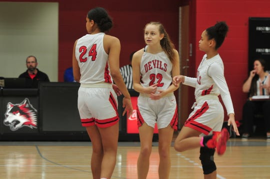 Junior Kenzie Wert (22) has averaged 11.5 points per game in the Red Devils' previous six games.