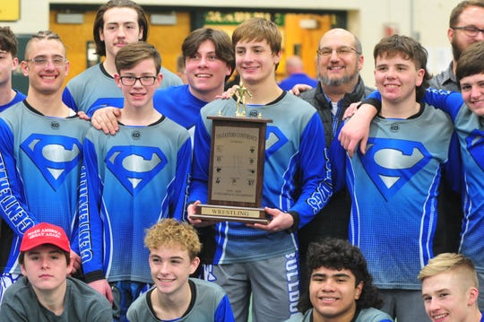 Centerville won the Tri-Eastern Conference Wrestling Tournament on Saturday, Jan. 25, 2020.