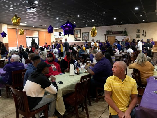 A big crowd attended a party for Terrace Marshall Jr. at Shane's in Bossier City on Saturday.