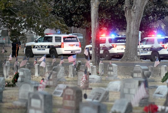 Vineland Police arrested a suspect in pistol-whip attack after locating him in Siloam Cemetery. Friday, Jan. 24, 2020.