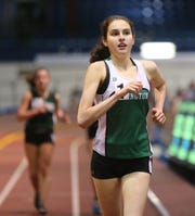 Irvington's Sarah Garcis wins the 1500-meter race walk with a 7:32.43 time at the Westchester County Indoor Track & Field Championships at The Armory New Balance Track & Field Center in New York on Friday, January 24, 2020.
