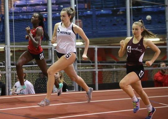 Bronxille's Eve Balseiro won the 600-meter dash with 1;34.25 time during the Westchester County Indoor Track & Field Championships at The Armory New Balance Track & Field Center in New York on Friday, January 24, 2020.