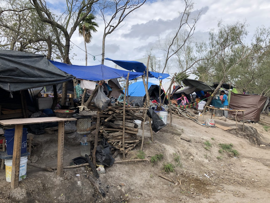 Immigrant camp in Matamoros, Mexico in January, 2020.