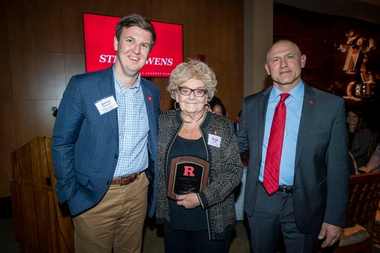 The Scarlet Knights honored Evelyn Hill, wife of legendary head coach Fred Hill Sr., who passed away last spring, during the Leadoff Banquet on Saturday night