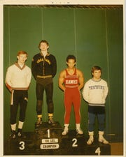 Jay Stuart after winning the 1972 state wrestling championship at 136 for Piscataway.