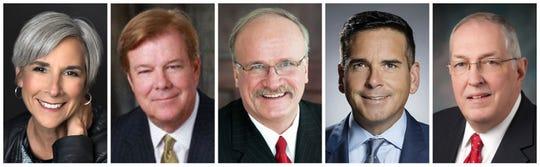 Polk County Supervisors Angela Connolly, Robert Brownell, Tom Hockensmith, Matt McCoy and Steve Van Oort.