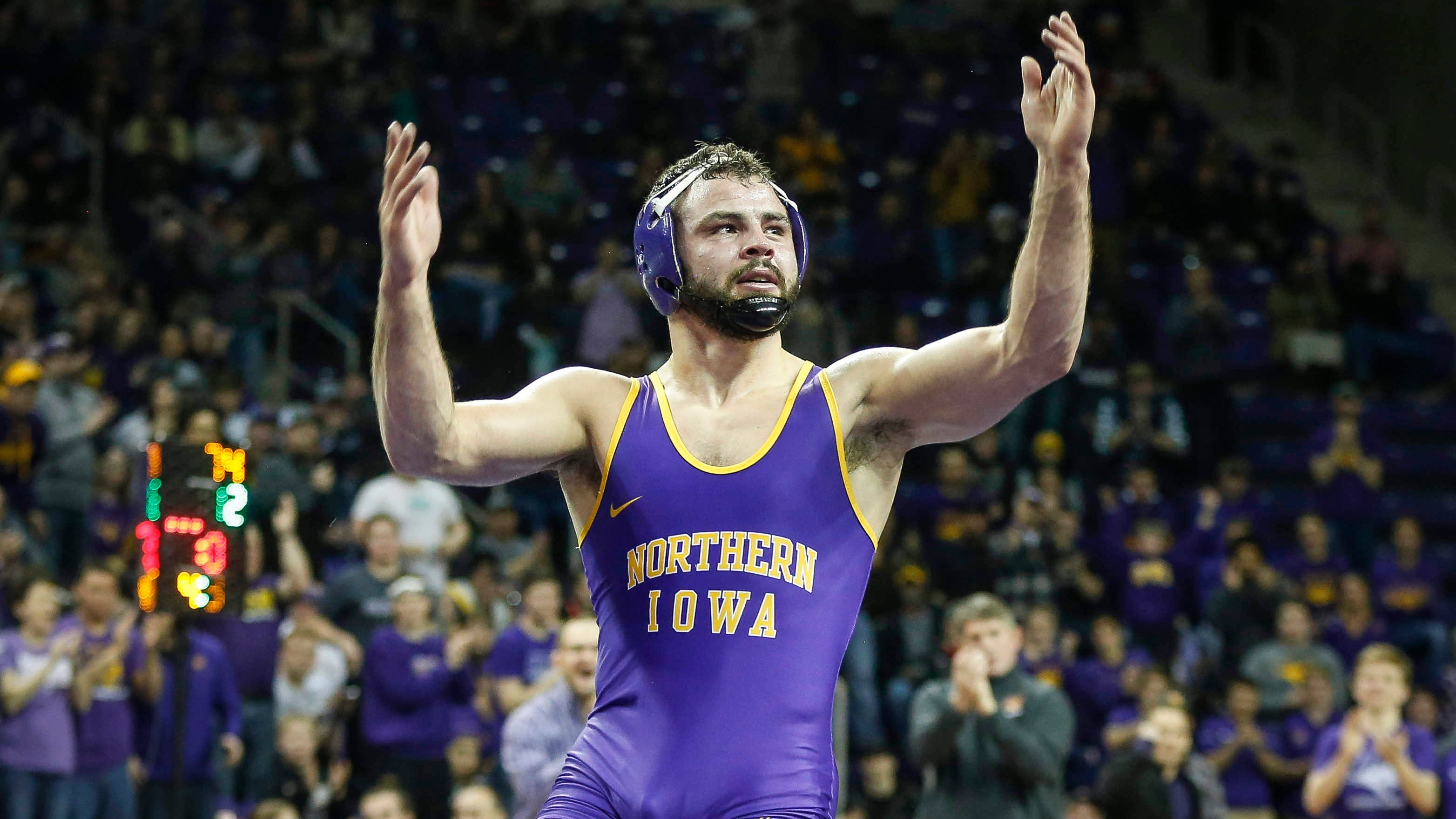 Photos: Northern Iowa wrestlers get past No. 8 Oklahoma State