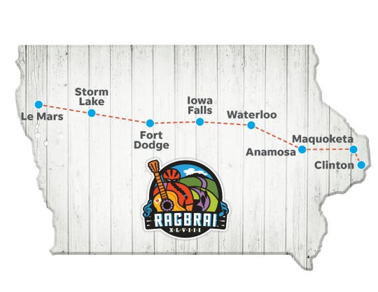 The 2020 RAGBRAI route has been announced.