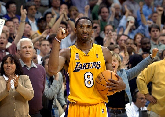 Kobe Bryant watches the clock run down the final seconds of Game 5 of the Western Conference semifinal against the San Antonio Spurs.