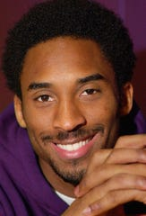 Kobe Bryant is all smiles during a Jan. 16, 2001, interview in California.