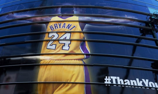 In April 2016, the Lakers unveiled a giant Kobe Bryant banner.