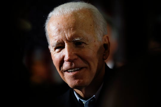 Democratic presidential candidate former Vice President Joe Biden speaks during a campaign event, Saturday, Jan. 25, 2020, in Ankeny, Iowa.
