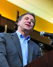 Gov. Steve Bullock addresses the Little Shell Chippewa Tribe's federal recognition celebration dinner on Saturday at the Holiday Inn in January. Lt. Gov. Mike Cooney and businesswoman Whitney Williams have taken different stances on Bullock's performance as governor during the Democratic gubernatorial primary.