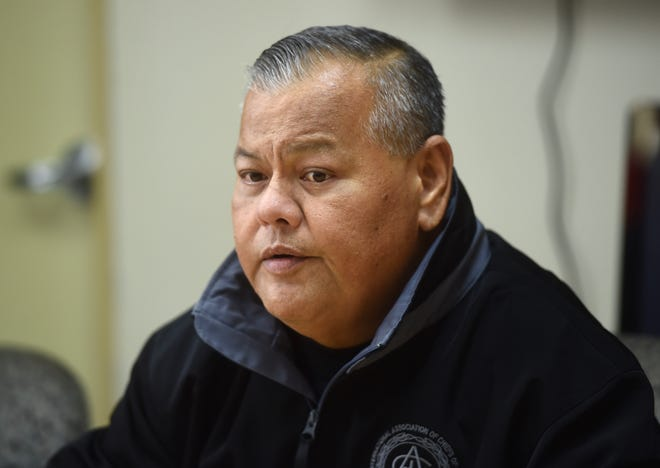 Guam Police Department Chief Stephen Ignacio said in a statement on Wednesday that they are still investigating a police officer in the video showing the officer striking a man in handcuffs. PDN file photo.