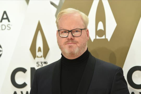 """Jim Gaffigan, shown before last November's CMA Awards, is a Grammy nominee this year for Best Comedy Album for his album, """"Quality Time."""""""