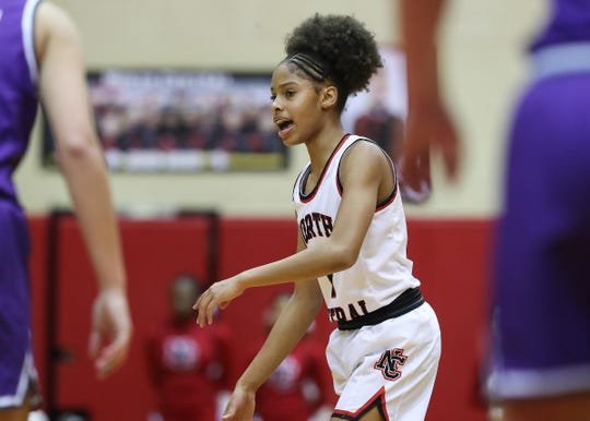 FILE – Tanyuel Welch scored 11 points in North Central's sectional win over Lawrence Central on Wednesday.