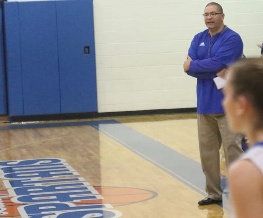 St. Peter's coach Roy Shoulders is right back where he loves to be, on the sidelines at St. Peter's High School coaching girls basketball.