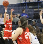 Mansfield Christian's Elle Schmitz has the Lady Flames at No. 6  in the Richland County Girls Basketball Power Poll.