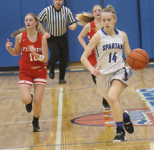 St. Peter's Kiyah Wentz has the Lady Spartans at No. 10 in the Richland County Girls Basketball Power Poll.