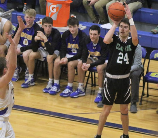 Clear Fork's Brennan South led the Colts with 17 points in a loss to Ontario on Saturday night.