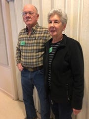 Kathrine and Rod Gilmore were awarded Baxter County Master Gardener Couple of the Year at the Master Gardeners' 2019  Christmas party.  They became Master Gardeners in 2013. They have volunteered at many of the Master Gardeners' eight community gardens, plant sale, Norfork Adventure Day, Baxter County Fair and Spring Seminar.  Presently they are Project Leaders for the Fairground Gardens and Committee Chairpersons for the Spring Seminar.