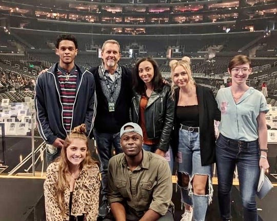 Current MTSU students tour the Staples Center in Los Angeles before the 2020 Grammy Awards.